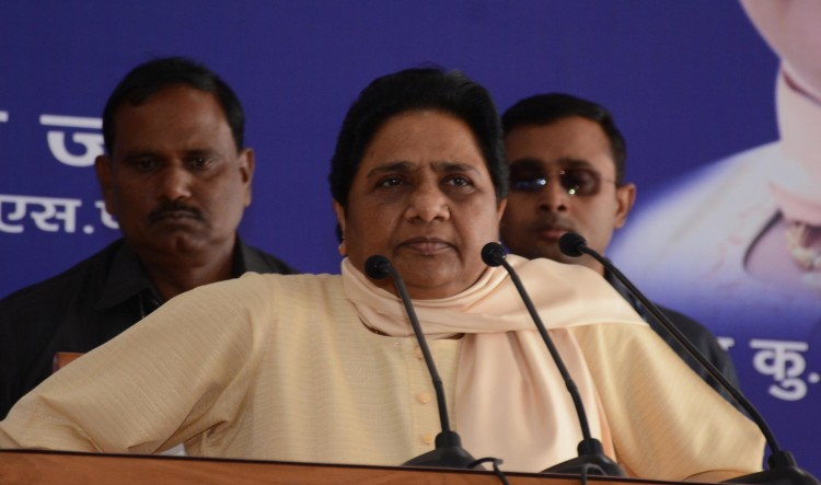 mayawati reacts on fire in eco garden.