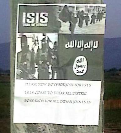 ISIS poster hoisted in Bihar's Sasaram, stirred up