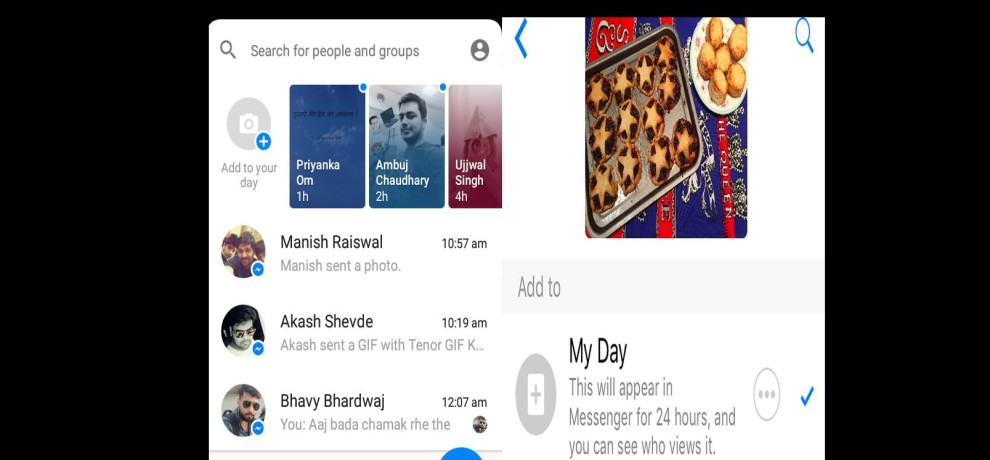 Facebook roll out messenger day feature