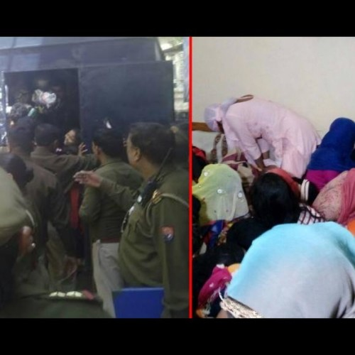 raid in ghaziabad bajariya hotel, arrest 70 couple