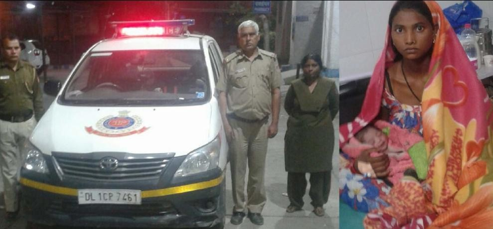 Delhi police saved the life of this new angel saved