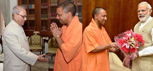yogi meet The Prime Minister and President