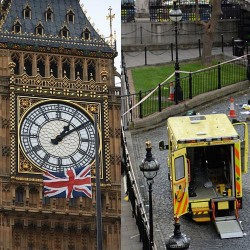 Pictures Of 'Terror incident' near UK Parliament