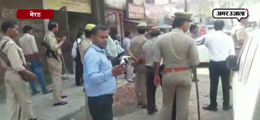 Action against encroachment in meerut