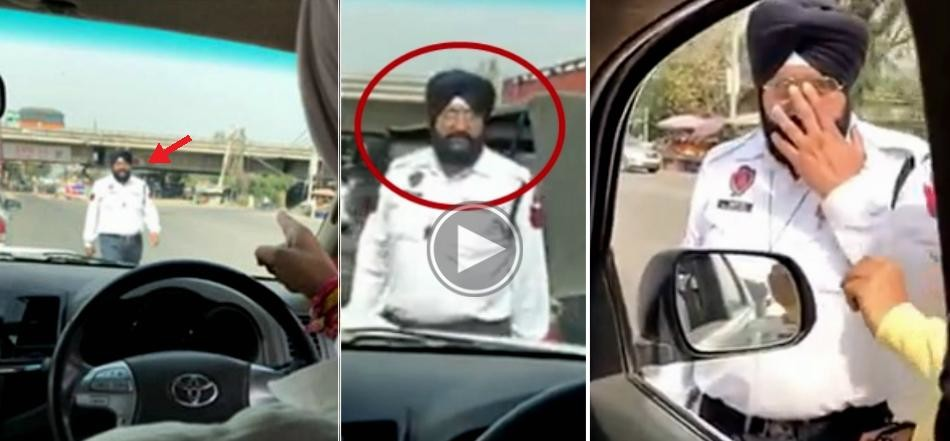 Manpreet Badal catches cops taking bribe