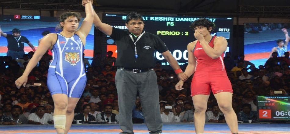 ritu phogat wins in bharat kesari dangal