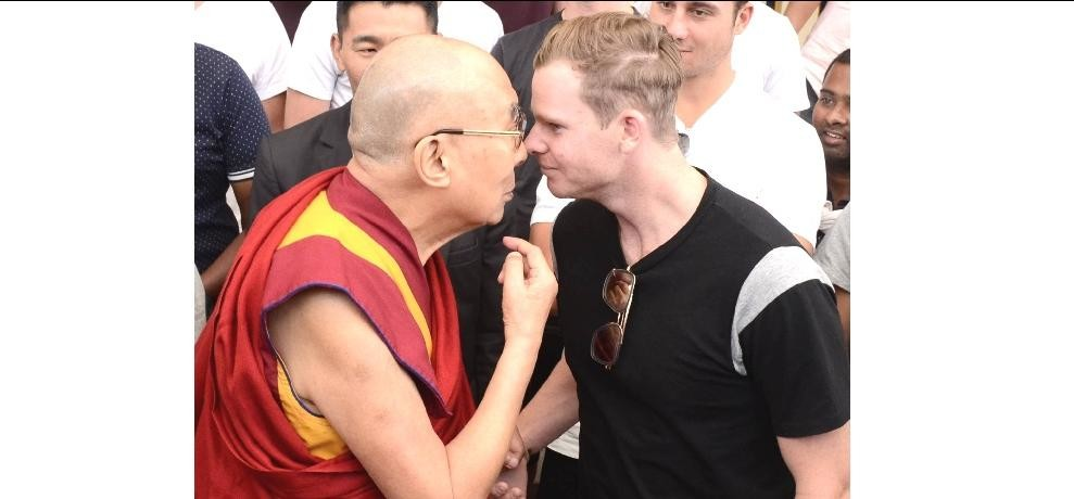 ins vs Aus: Australia cricket team meets Dalailama