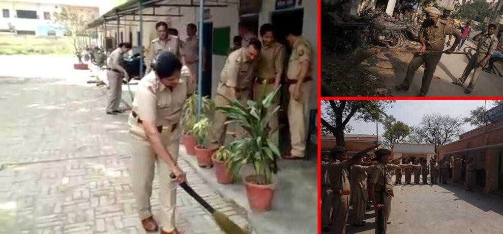 on cm adityanath yogi cops of ncr cleans their police stations
