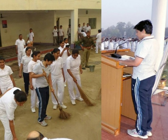 cleanliness by lucknow SSP manzil Saini.