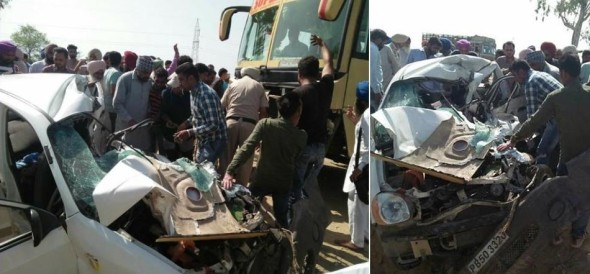 4 killed in road accident at barnala bathinda national highway