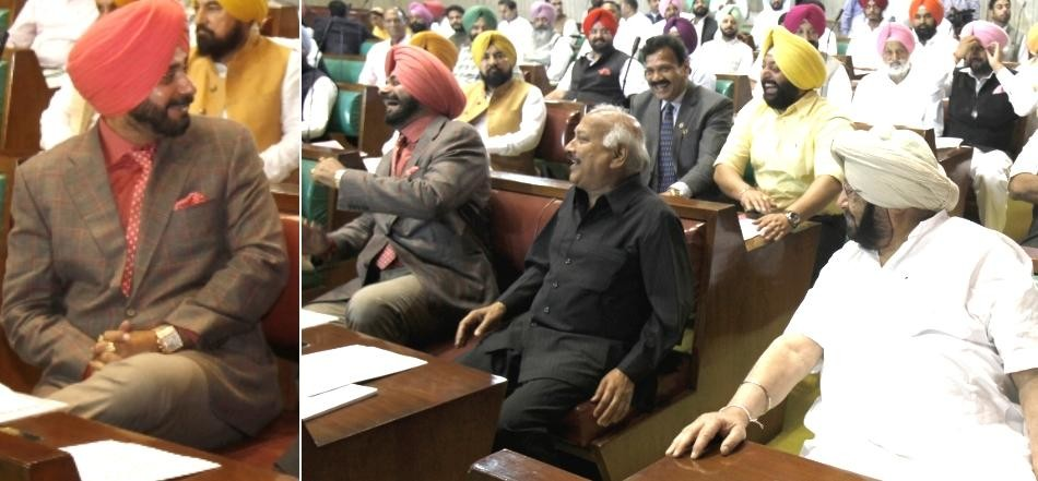 Navjot singh sidhu First day in Punjab Assembly