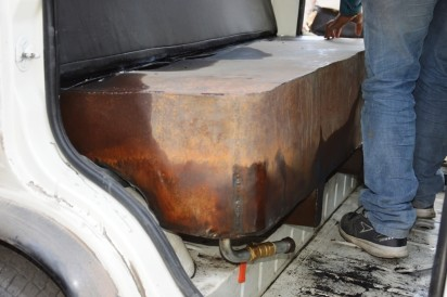 Tank made under the seat for theft