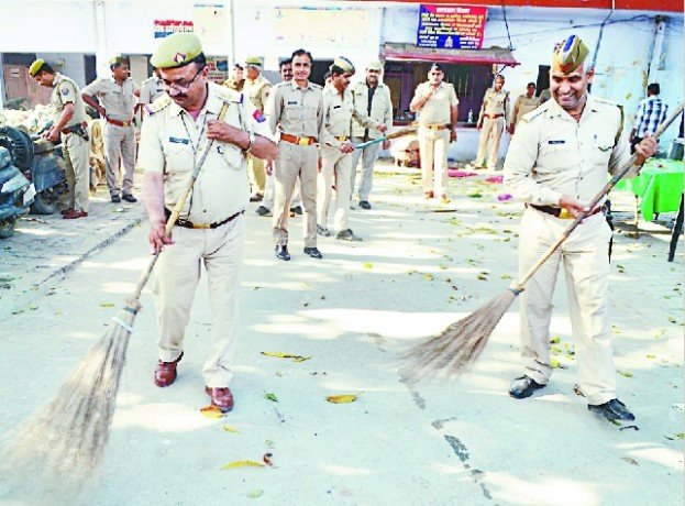 cleanness in police staion
