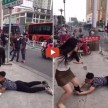 Guy Desperately Begs Girlfriend in public