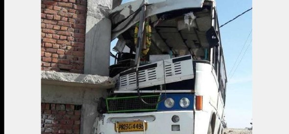 Piligrim Bus Accident at Bilaspur, 40 Injured.