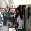 Karan Johar twins clicked outside hospital as he takes them home