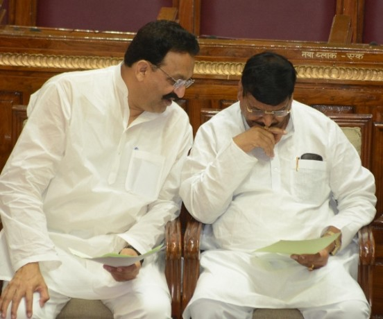 newly elected MLAs take oath in Uttar Pradesh assembly.