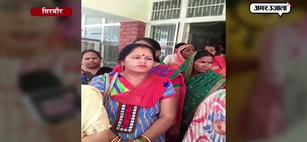 WOMENS GROUP PROTEST AGAINST LIQUOR SHOP IN SIRMOUR