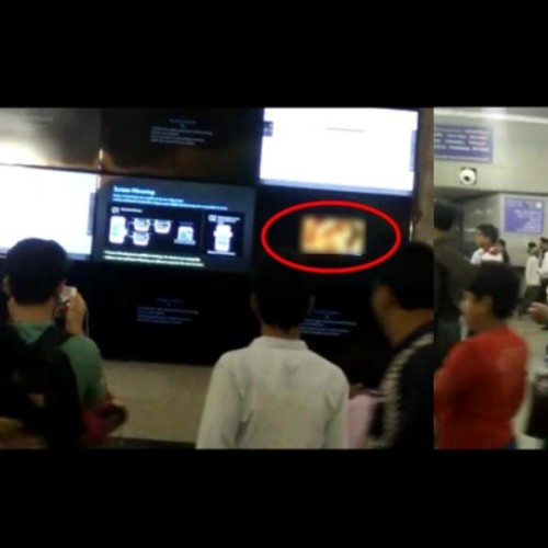 Commuter made video of porn being played at a screen in Rajiv Chowk metro station, became viral.