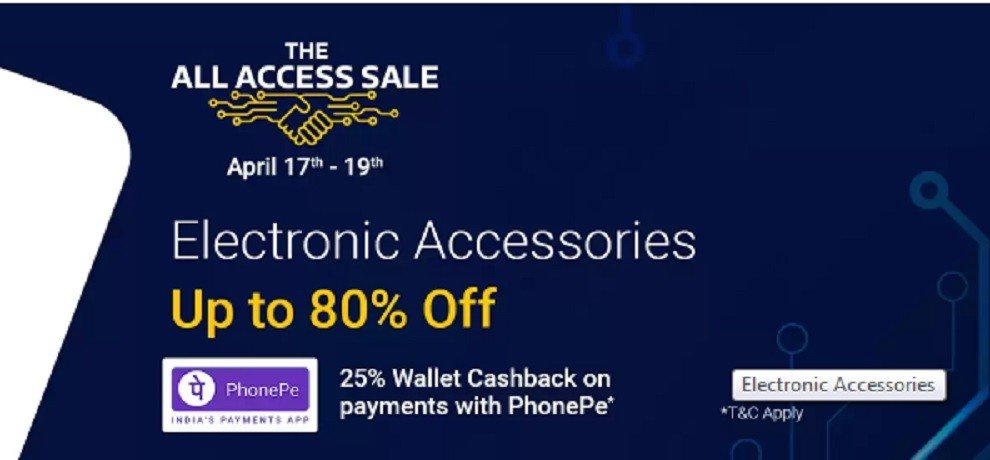 flipkart all access sale starts discount on electric accessories