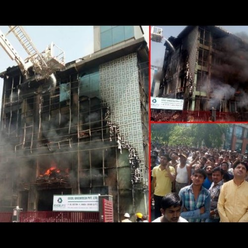 fire caught in electronics company in noida, about 6 people missing after incident