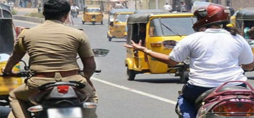 Traffic lessons taught by SP first, then invoices of 30 policemen cut. rohtak police