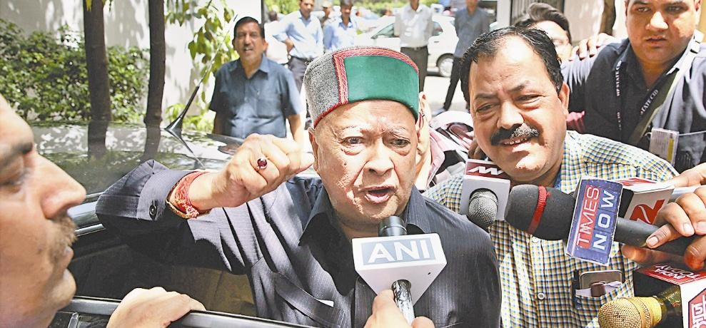 Enforcement Directorate Interrogate CM Virbhadra Singh For 9 hours in Money Laundering Case