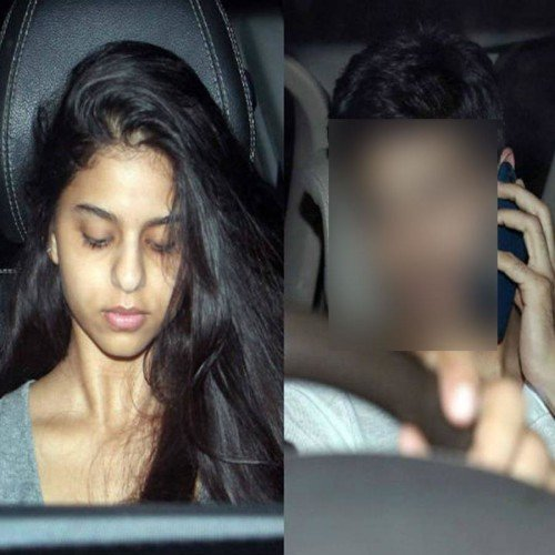 shahrukh khan daughter suhana and siddharth malhotra spotted outside Karan Johar's house