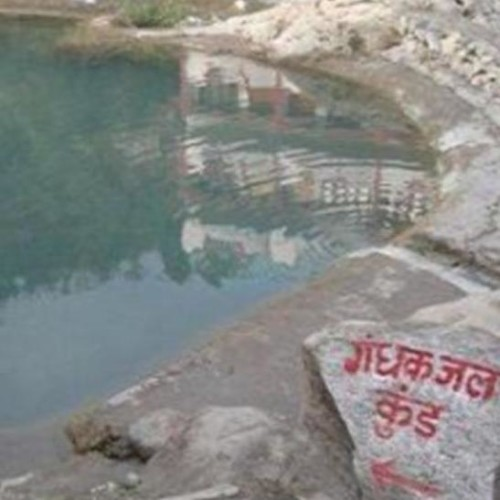 Water dripping from cave in Sahastradhara