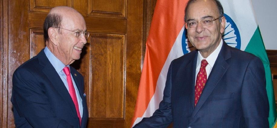 arun jaitley strongly raised  H-1B visa issue in front of US Commerce Secretary Wilbur Ross