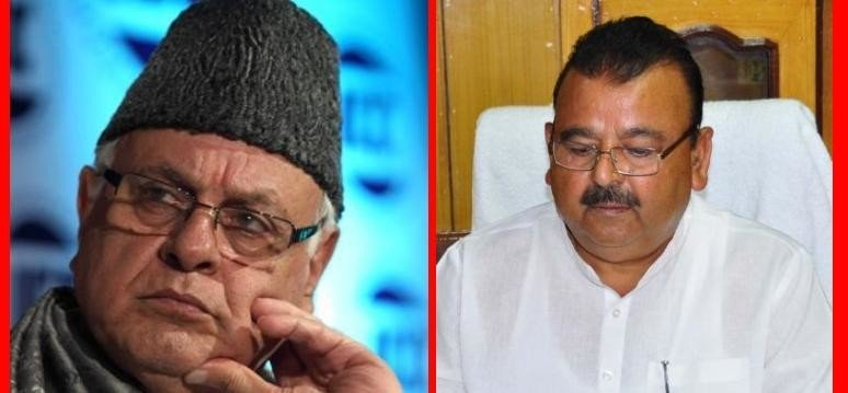 Farooq Abdullah provoked on the controversial statement of industry Minister