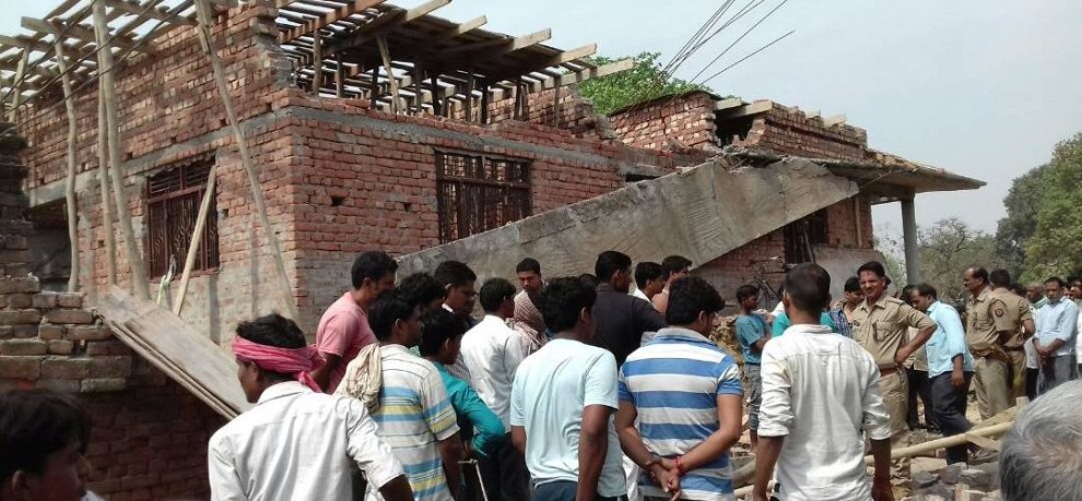 Varanasi: Three laborers die due to falling roof of newly built house