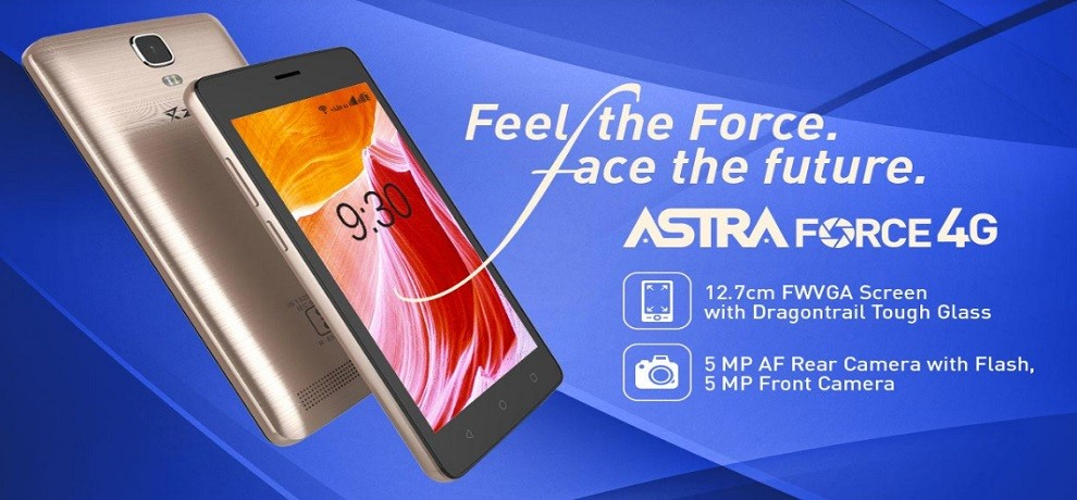 ziox astra force 4g smartphone launched at 6053 with sos button