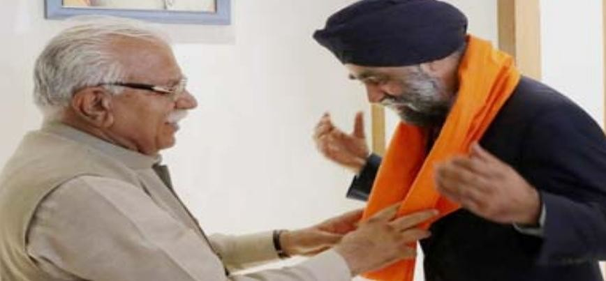 canadian defence minister meets chief minister manohar lal khattar