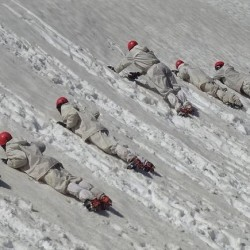 itbp jawans training somewhere in the Himalayas