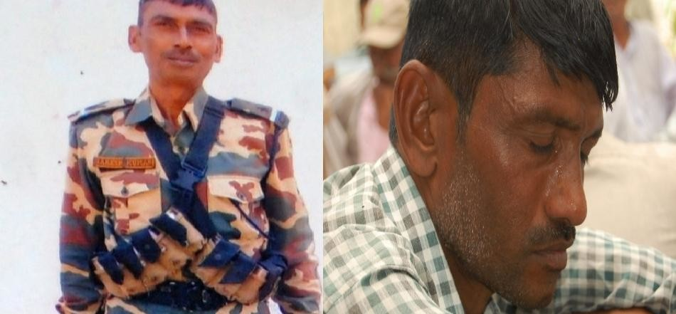 martyred CRPF soldiers's family