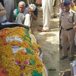 up state ministers to pay tribute to solder in his funeral who died in sukma attack in chattishgarh