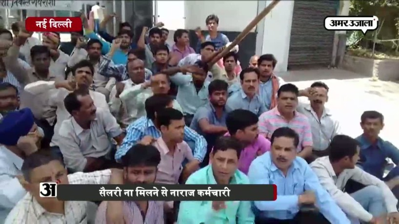 EX AMPRAPALI WORKERS SIT ON INDEFINITE HUNGER STRIKE