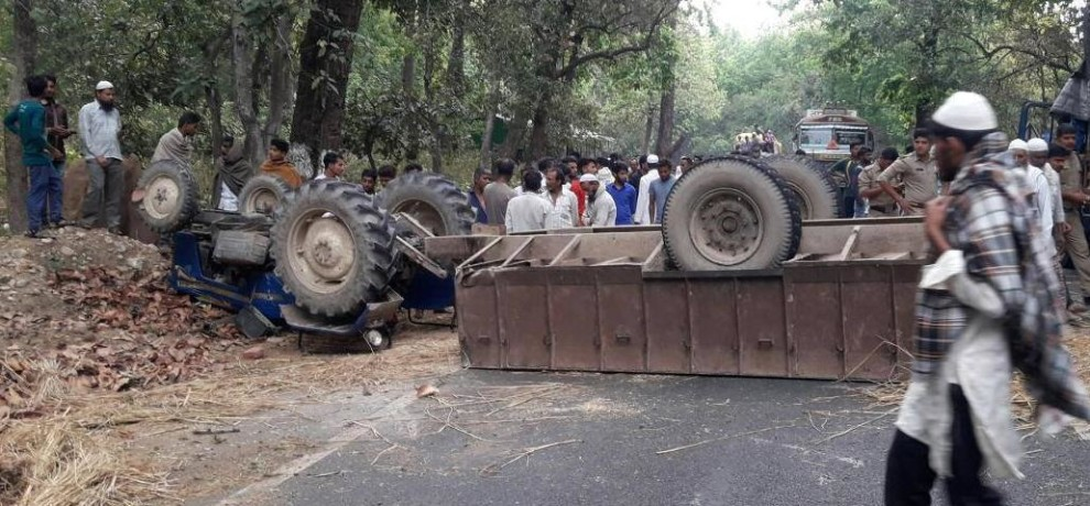 tractor trolley accident in sahaspur
