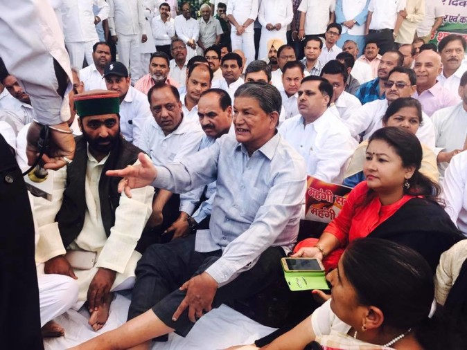 harish rawat fast on dalit molestation