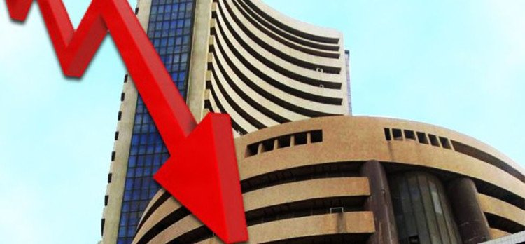 sensex, nifty closes in flat due to strong selling