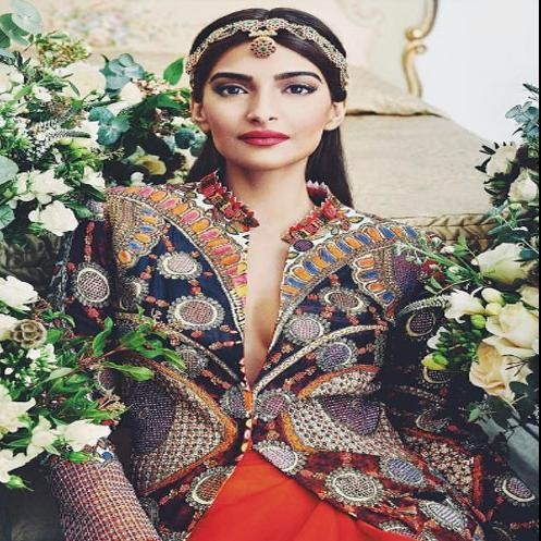 If you are confuse with your wedding lehenga, then peep into the Sonam Kapoor's latest photoshoot