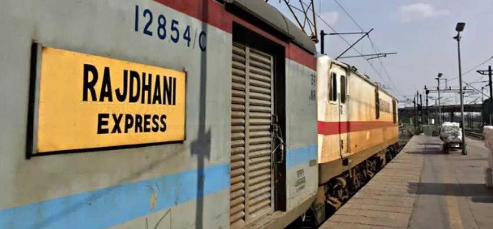 young man hit by rajdhani express