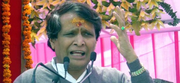 rail minister suresh prabhu offers to resign, pm asks him to wait