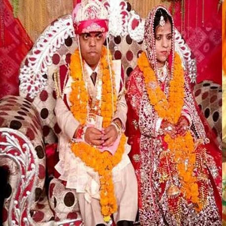 india's smallest bride and groom