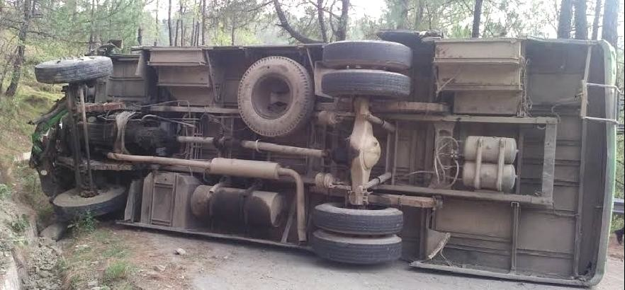 HRTC Bus Accident at Hamirpur, 20 Injured.