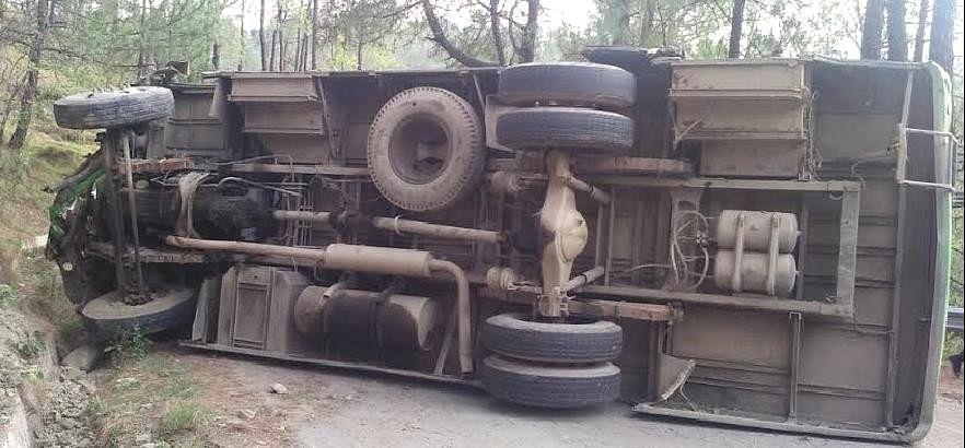 HRTC Bus Accident at Hamirpur, 20 Injured.