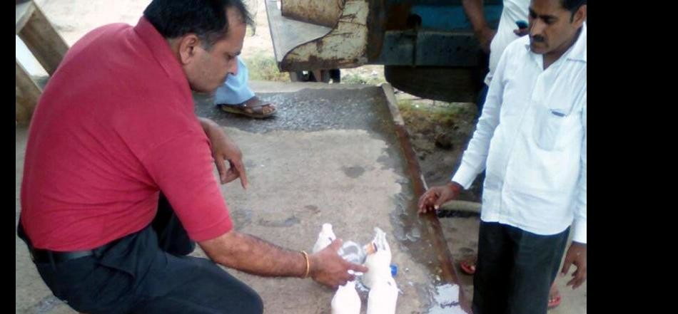 thousand liters adulterated milk find in kasganj