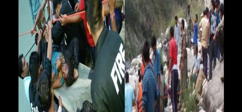 photos of bus accident in uttarkashi