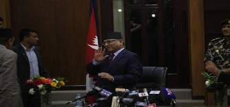 prachand says Nepal's Left Front government will work under constitution